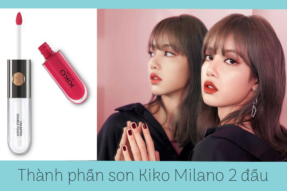 Thành phần của son Kiko Milano 2 đầu