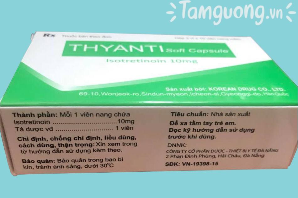 Thành phần của thuốc Thyanti Soft Capsule 10mg