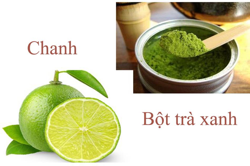 Trị mụn bằng trà xanh và chanh