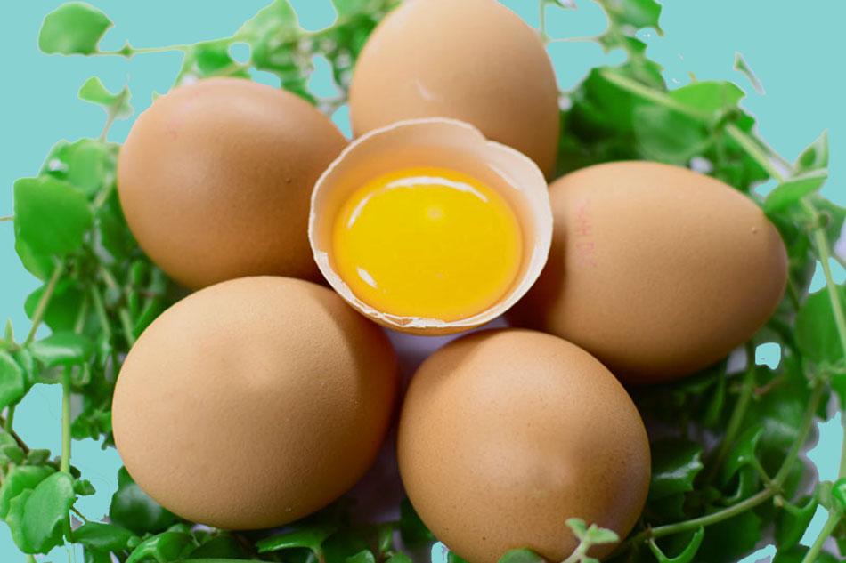 Trứng gà mờ vết thâm