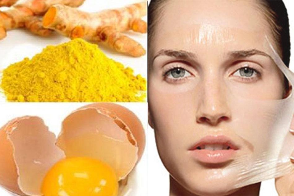 Kết hợp trứng gà và nghệ