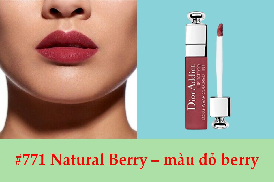 #771 Natural Berry – màu đỏ berry