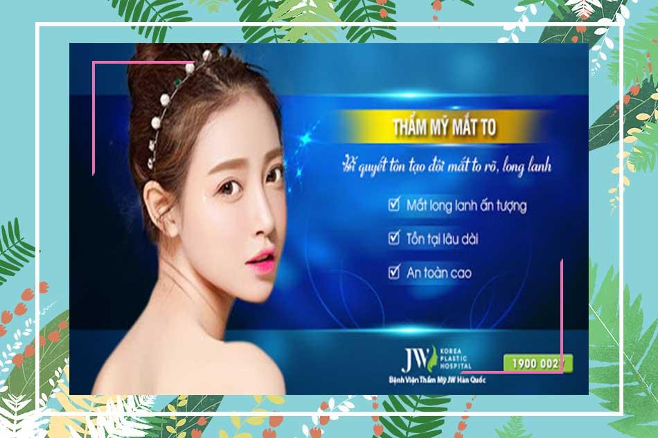 Các loại hình dịch vụ của bệnh viện thẩm mỹ Hàn Quốc JW