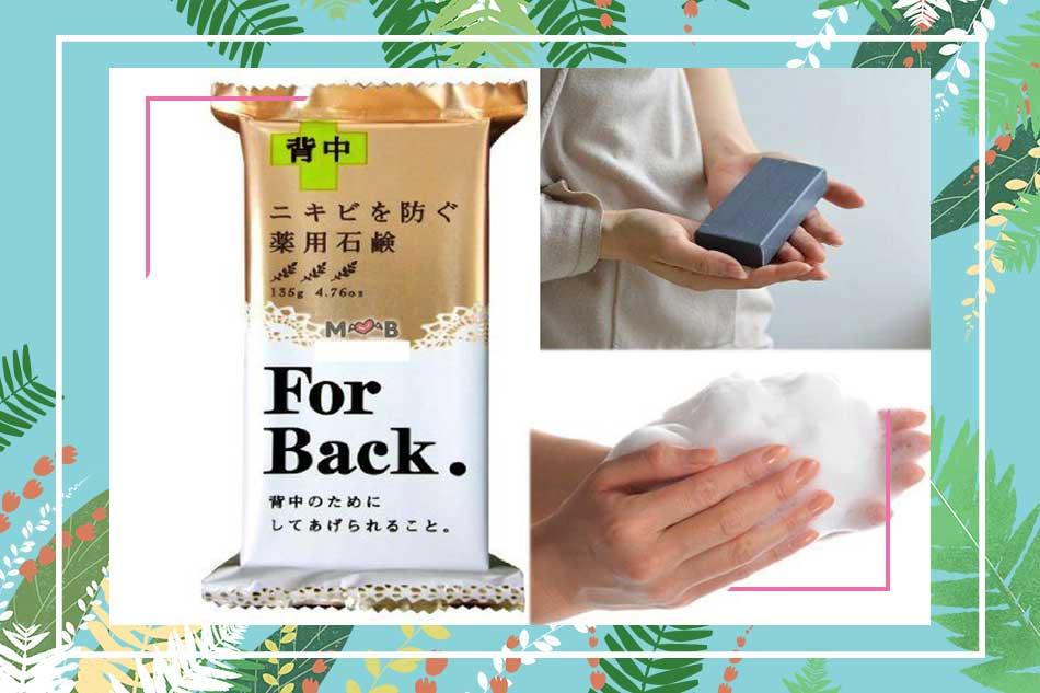 Cách dùng xà phòng trị mụn lưng