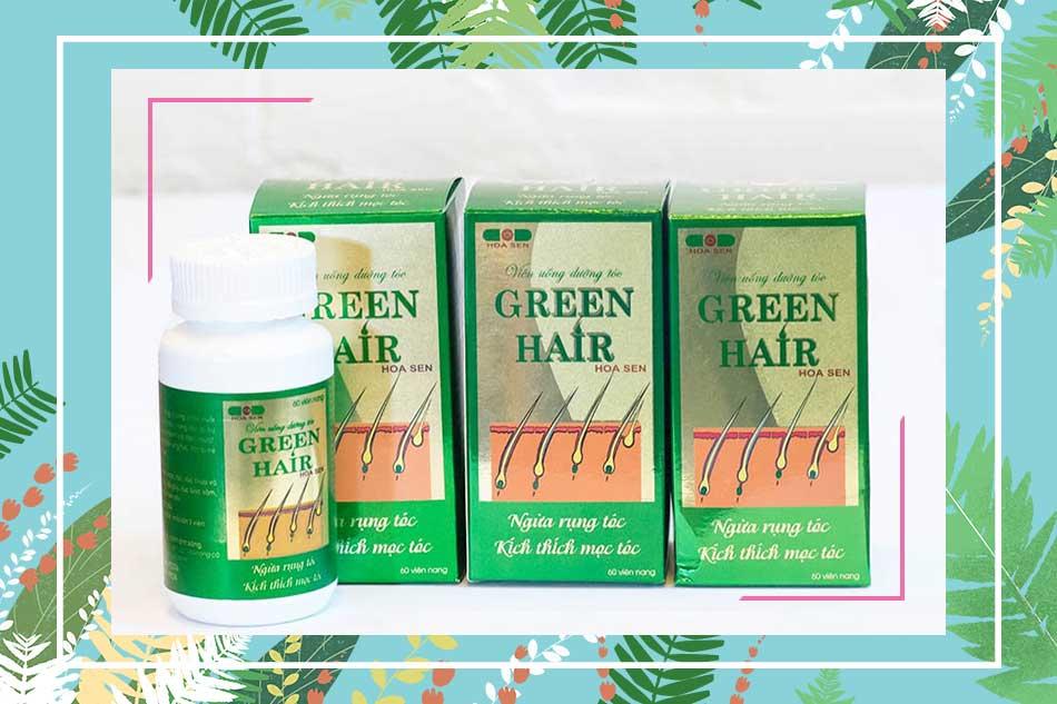 Cách sử dụng viên uống Green Hair mọc tóc