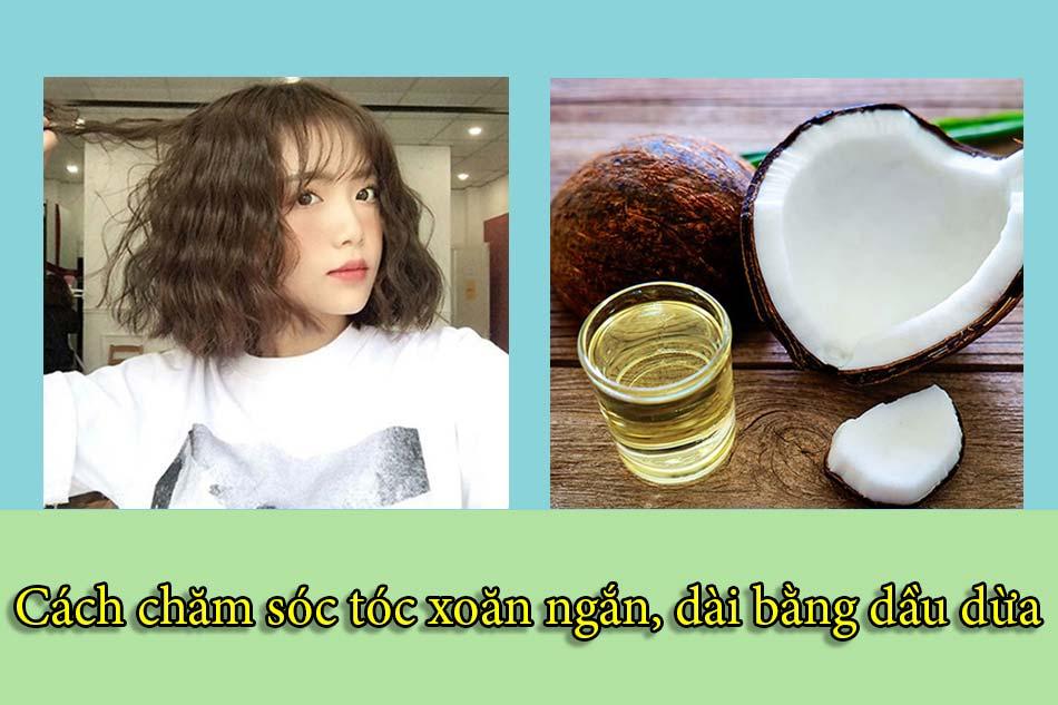 Cách chăm sóc tóc xoăn ngắn, dài bằng dầu dừa