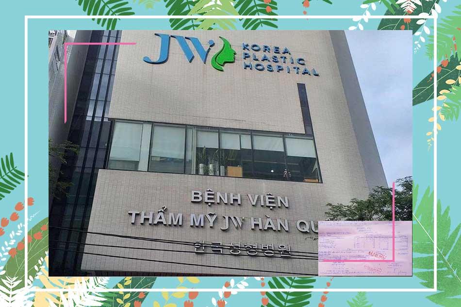 Địa chỉ chi nhánh thẩm mỹ viện JW Hàn Quốc