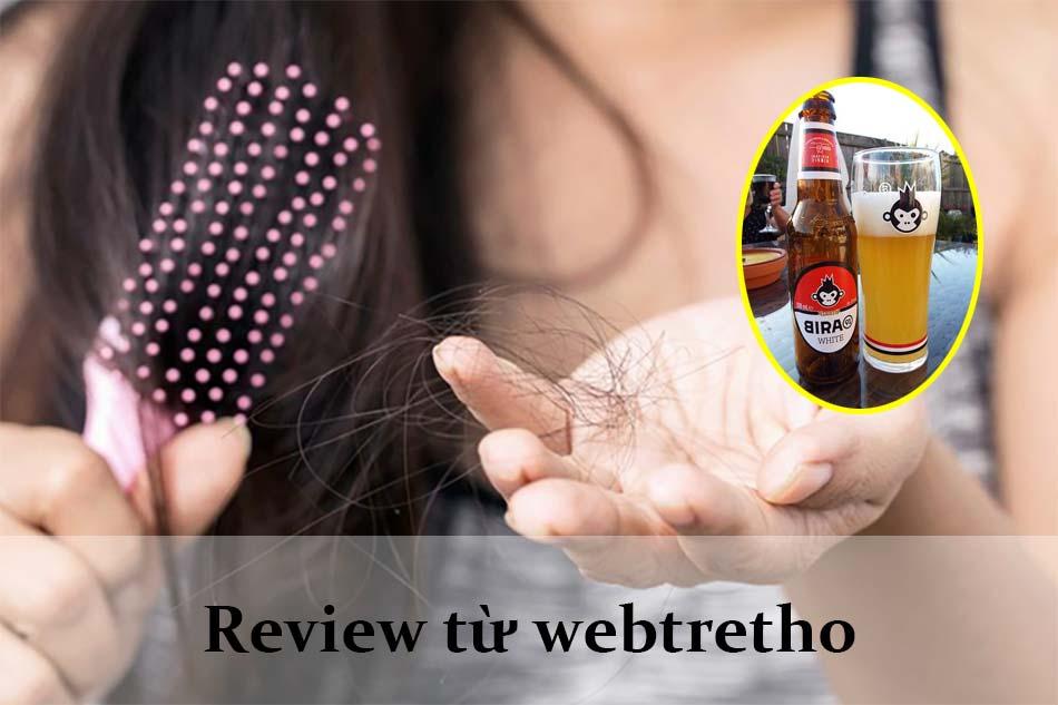Review hiệu quả trị rụng tóc bằng bia từ Webtretho