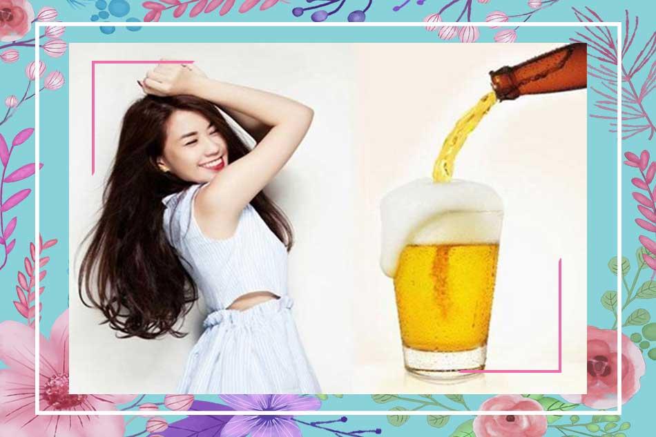 Sử dụng bia làm tóc mọc nhanh và dày hiệu quả nhất