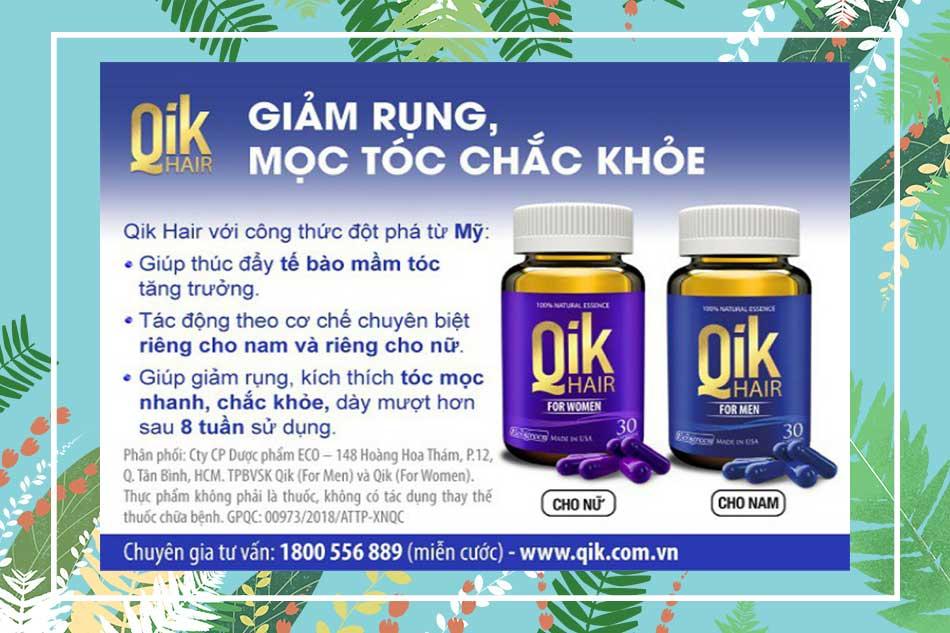 Viên uống Qik Hair có tác dụng gì?