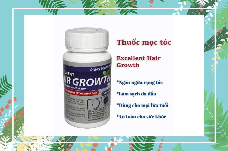 Viên uống mọc tóc Excellent Hair giá bao nhiêu?