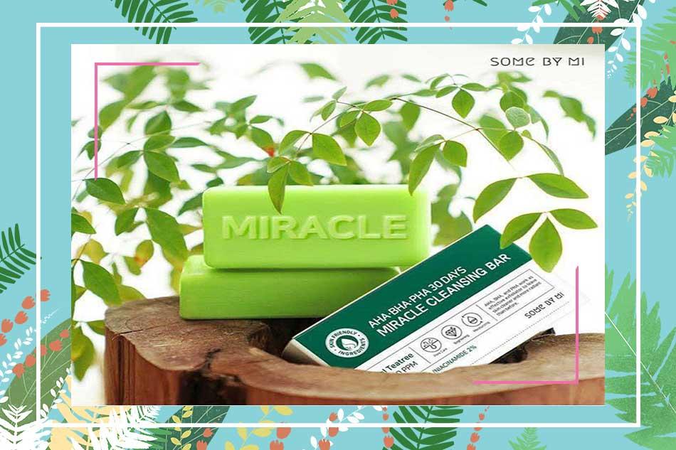 Xà phòng trị mụn mặt Miracle AHA BHA PHA 30 Days Bar
