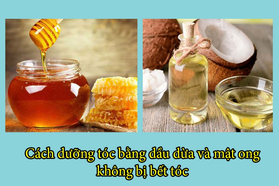 Cách dưỡng tóc bằng dầu dừa và mật ong không bị bết tóc