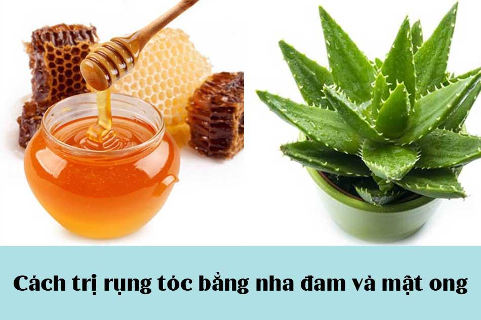 Cách trị rụng tóc bằng nha đam và mật ong