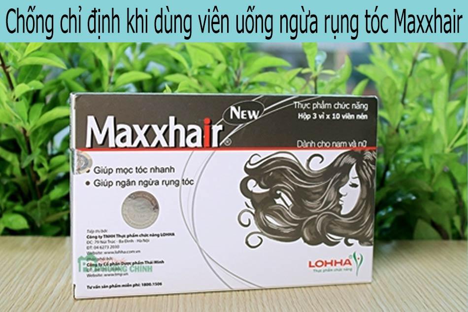 Chống chỉ định khi dùng viên uống ngừa rụng tóc Maxxhair