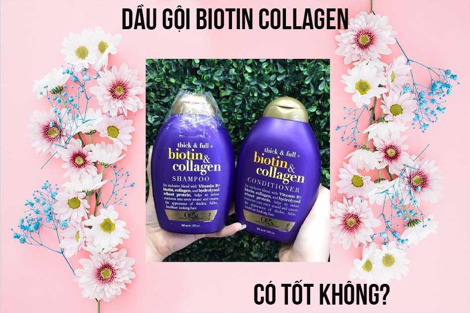 Dầu gội Biotin Collagen có tốt không?