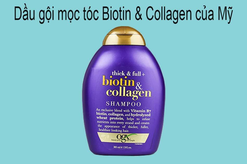 Dầu gội mọc tóc Biotin & Collagen của Mỹ