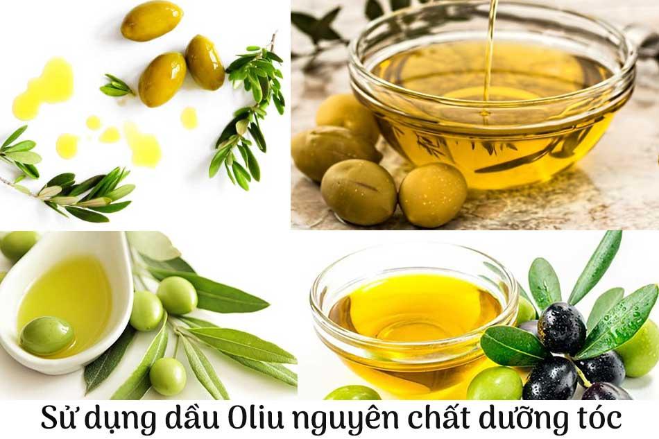 Sử dụng dầu Oliu nguyên chất để dưỡng tóc