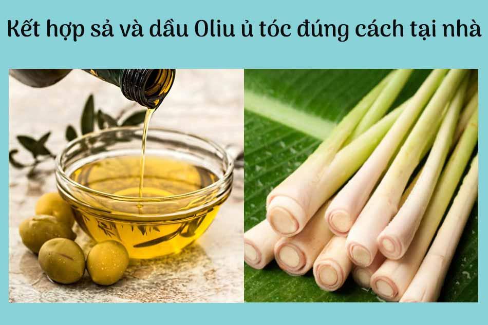 Kết hợp sả và dầu Oliu ủ tóc đúng cách tại nhà