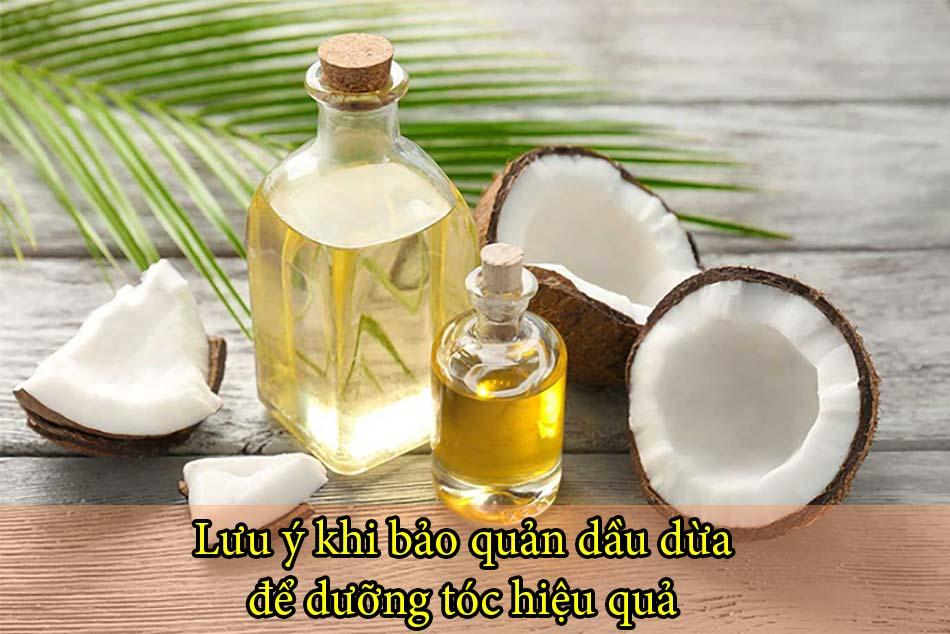 Lưu ý khi bảo quản dầu dừa để dưỡng tóc hiệu quả