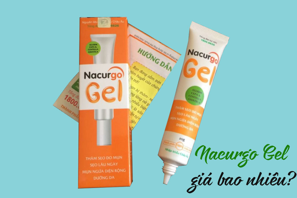 Kem trị mụn sẹo Nacurgo Gel giá bao nhiêu?