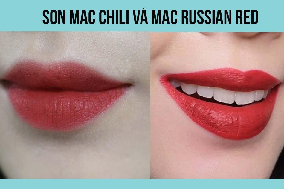 Son Mac Russian Red và Mac Chili