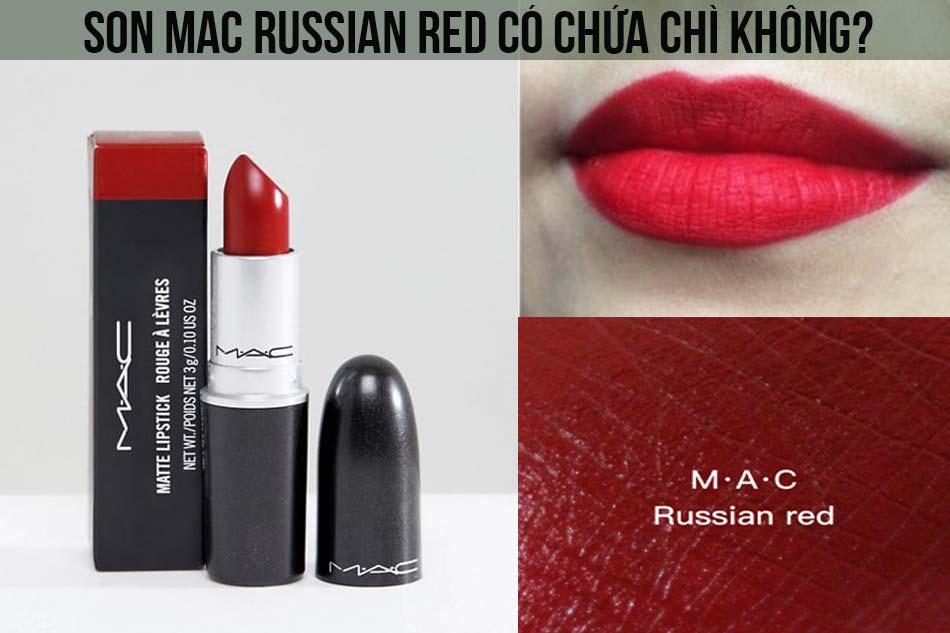 Son Mac Russian Red có chứa chì không?