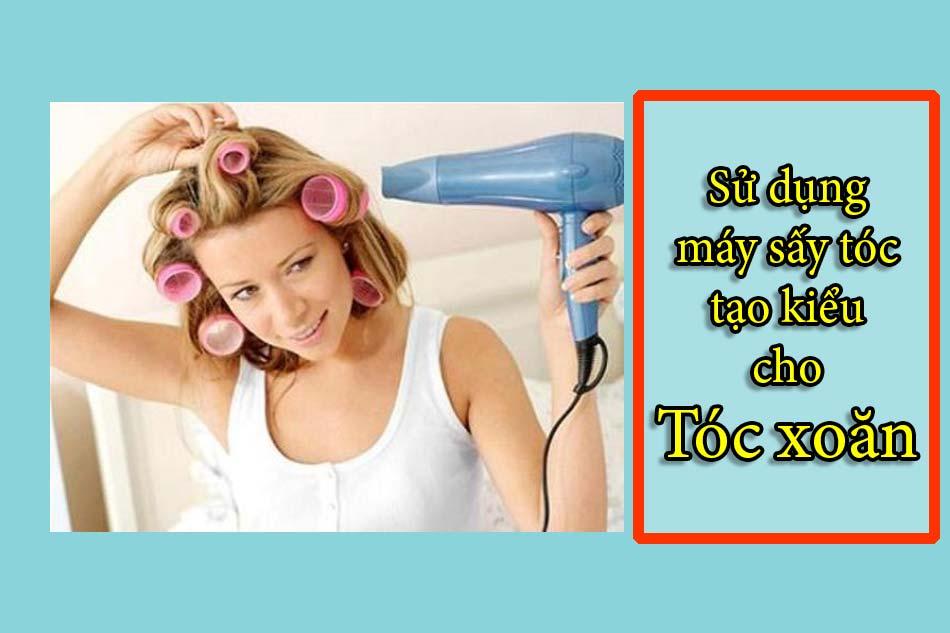 Sử dụng máy sấy tóc tạo kiểu cho tóc xoăn ngắn, dài của nam, nữ