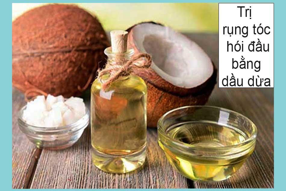 Cách trị rụng tóc hói đầu bằng dầu dừa