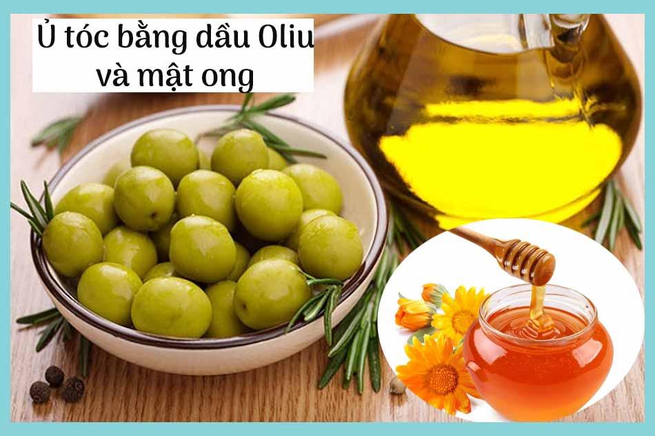 Cách ủ tóc bằng dầu oliu và mật ong giúp tóc suôn mượt
