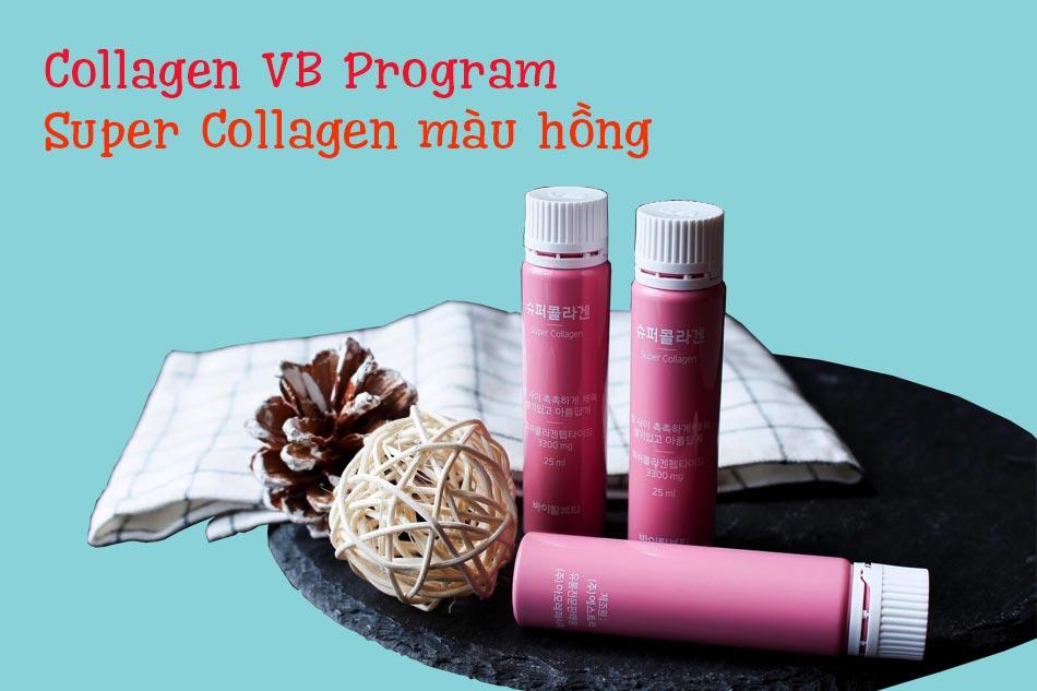 Nước uống Collagen VB Program Super Collagen màu hồng
