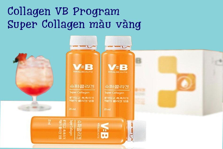 Nước uống Collagen VB Program Super Collagen màu vàng