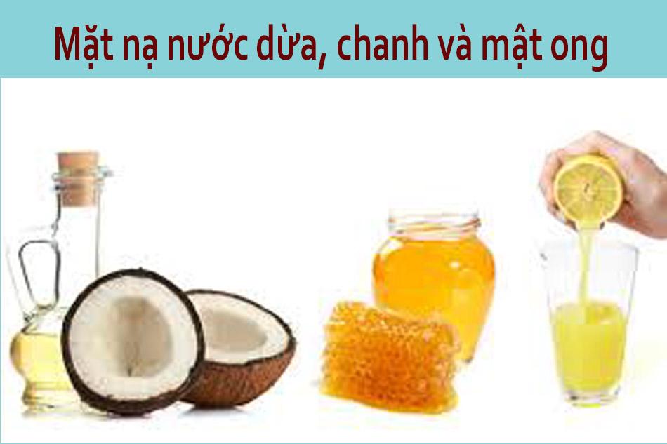 Mặt nạ nước dừa, chanh và mật ong