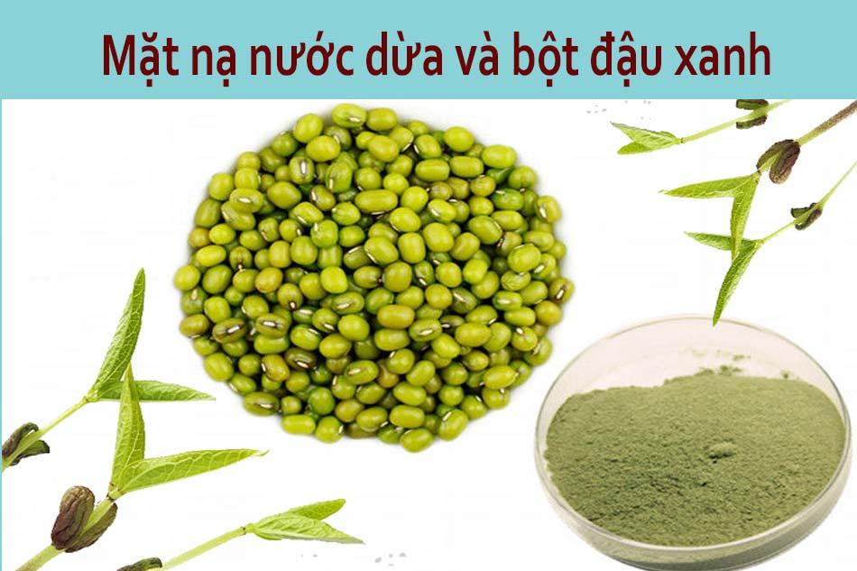Mặt nạ nước dừa và bột đậu xanh