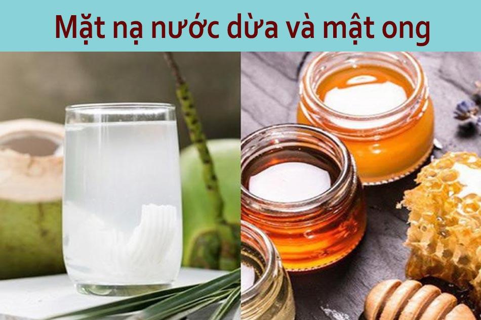 Mặt nạ nước dừa và mật ong