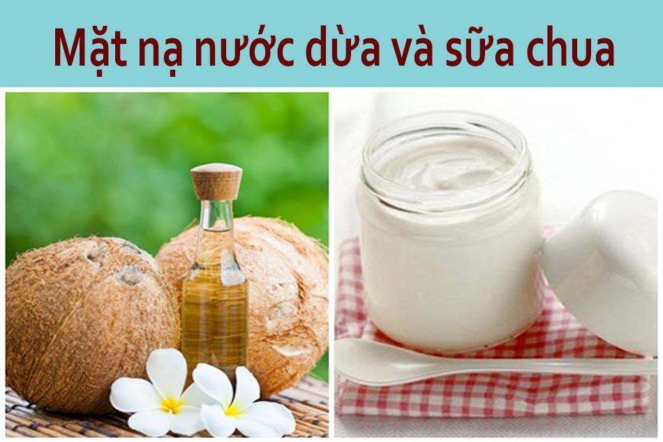 Mặt nạ nước dừa và sữa chua