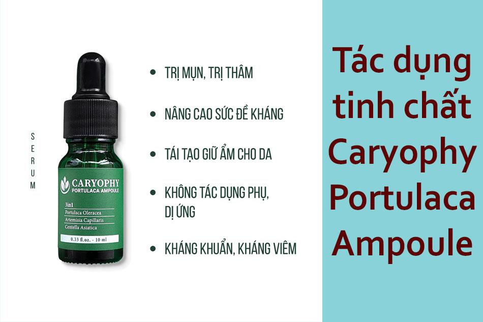 Tác dụng của tinh chất rau má Caryophy Portulaca Ampoule