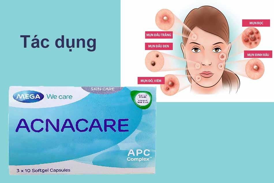 Tác dụng của viên uống Acnacare