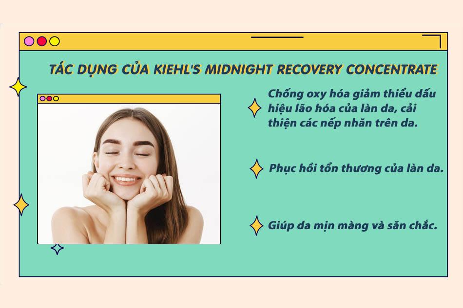 Kiehl's Midnight Recovery Concentratecó tác dụng gì?