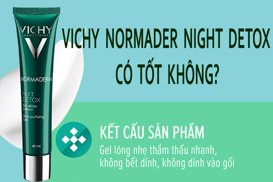 Vichy Normaderm Night Detox có tốt không?