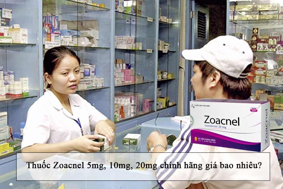 Thuốc Zoacnel 5mg, 10mg, 20mg chính hãng giá bao nhiêu?
