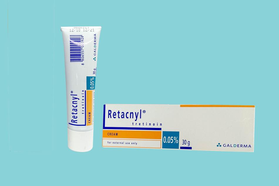 Trị mụn Retacnyl Tretinoin Cream 0.05% Galderma 30g