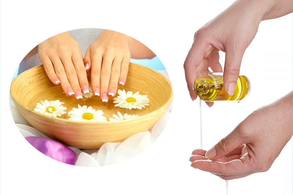 Cách chăm sóc móng tay nhanh dài bằng dầu Oliu