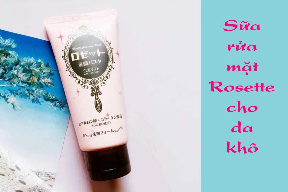 Sữa rửa mặt Rosette White Clay Lift màu hồng
