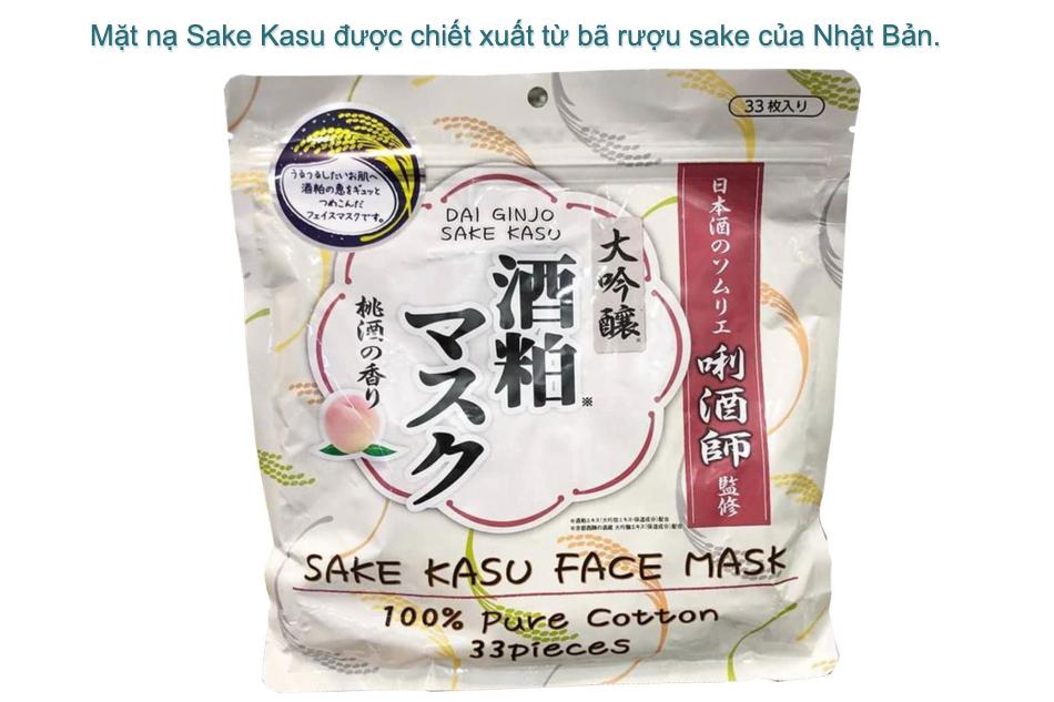 Giới thiệu mặt nạ Sake Kasu