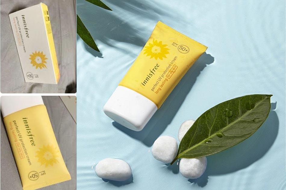 Kem chống nắng cho da dầu và hỗn hợp thiên dầu Innisfree Perfect UV Protection Cream Long Lasting SPF50+/PA+++ For Oily Skin