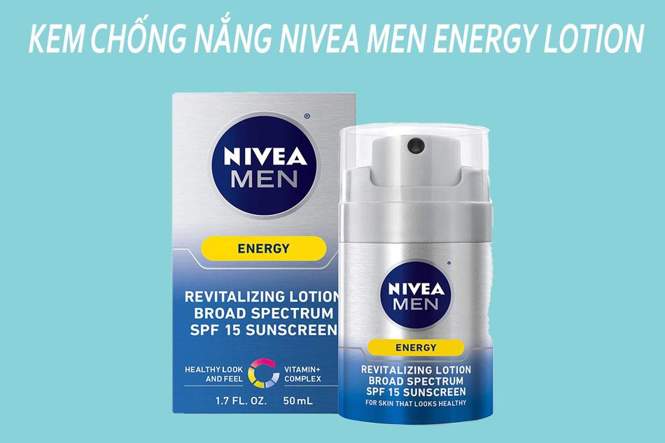 Kem chống nắng dành cho nam Nivea Men Energy Lotion