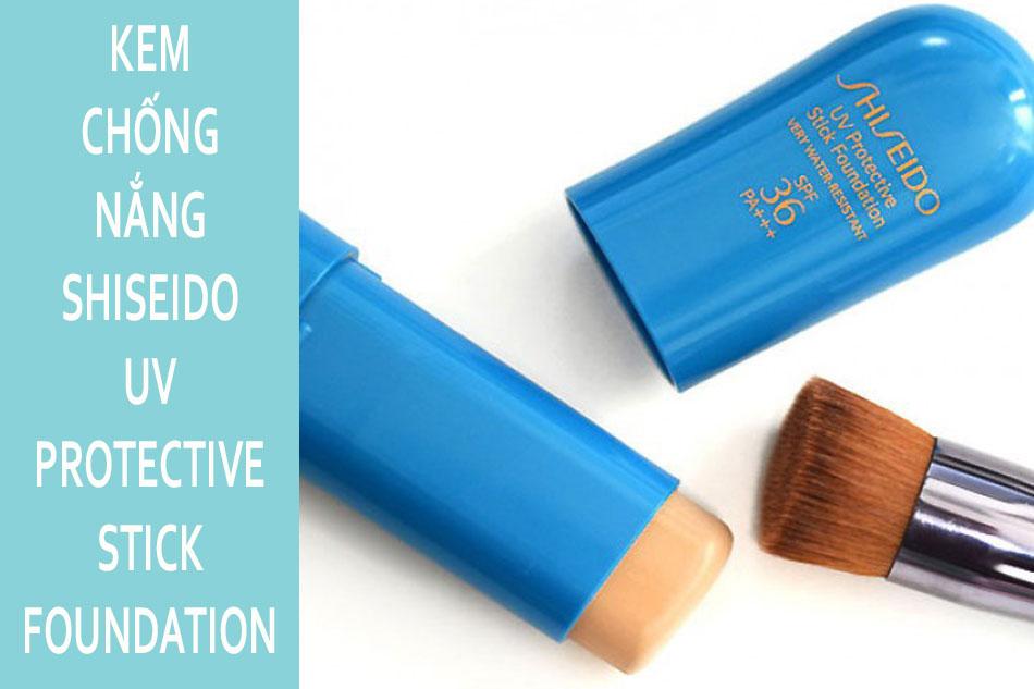 Kem chống nắng dạng thỏi lăn Shiseido Sun Protection Stick Foundation