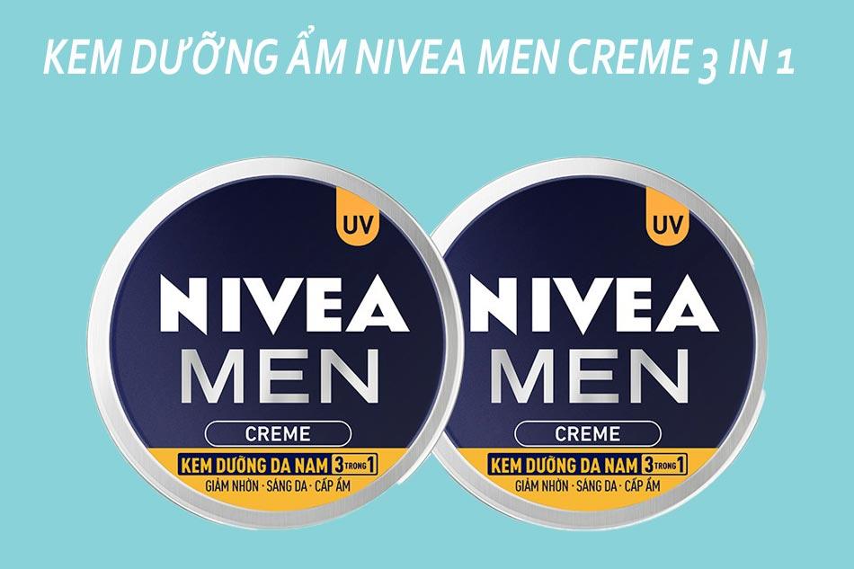 Kem dưỡng ẩm cho nam Nivea Men Creme 3 in 1