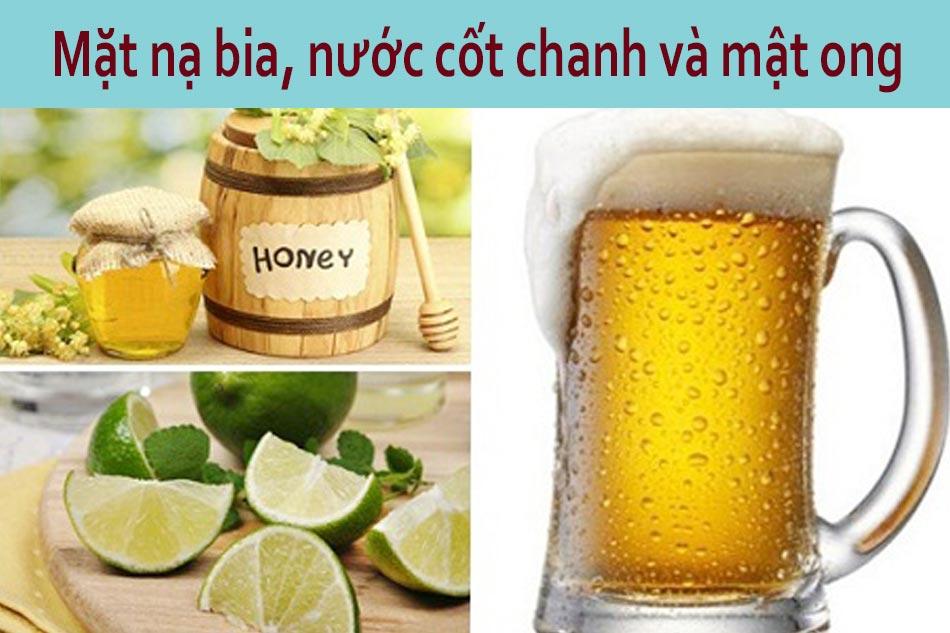Mặt nạ bia, nước cốt chanh, mật ong dành cho da dầu